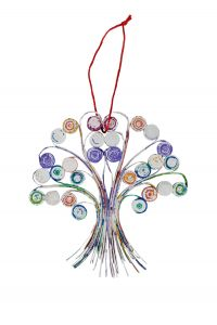 Recycled Paper Tree Ornament