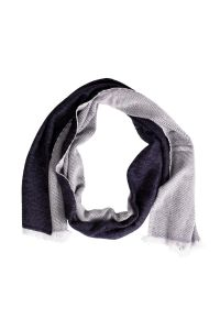 Blue & White Wool Scarf