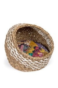 Recycled Sari Cat Basket