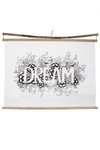 Wall art DREAM color your own w/box ppr/bb 28Wx22H