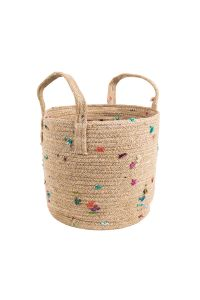 Bright Bits Jute Basket 10""