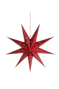3D Red Paper Star