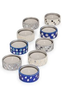Ice Sparkle Tealight Holders