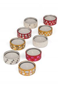 Fire Sparkle Tealight Holders