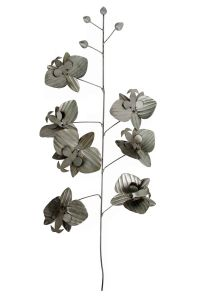 Oxidized Silver Orchid Branch
