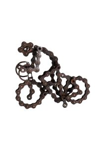 Recycled Bike Chain Sculpture
