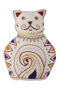 Embroidered Stuffed Cat