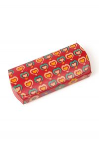 Hearts Leather Glasses Case